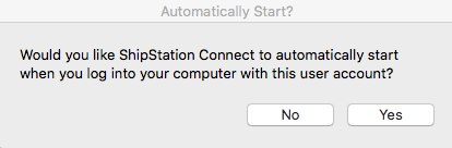 MacOS Automatically Start pop-up message.